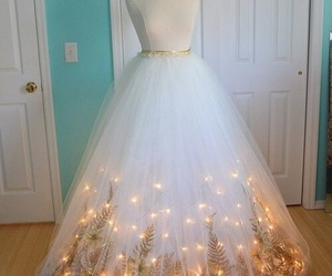 dress, light, and white image
