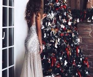 christmas, girl, and dress image