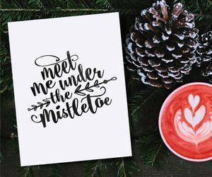 christmas, drinks, and mistletoe image