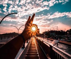 sun, photography, and sky image