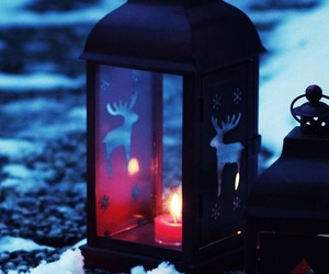 lantern and snow image