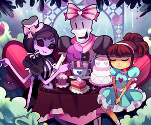 party, tea, and undertale image