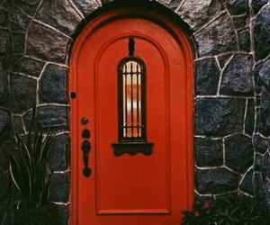 alternative, door, and red image