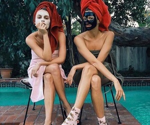 face mask, swimming, and fashion image