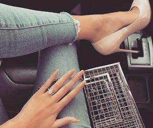 fashion, nails, and heels image