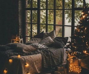 christmas, light, and bedroom image