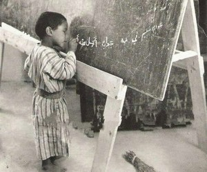 arabic, black and white, and education image