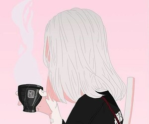 anime, coffee, and art image