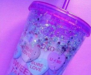 pink, purple, and glitter image