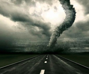 tornado and road image