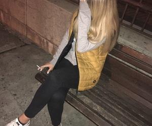 Belgrade, blonde, and cigarrette image