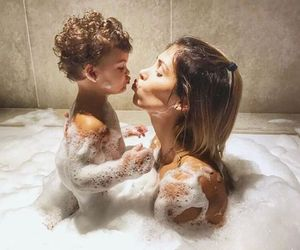baby, bath, and fashion image