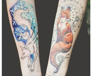 fox, tatoo, and tattoo image