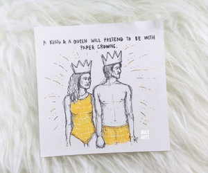 couple, crown, and paper crown image