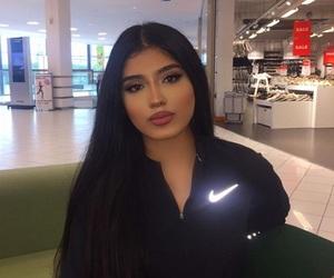 long black hair, brunette beauty, and pretty girl image