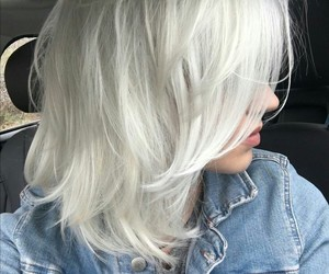 hair, girl, and platinum image
