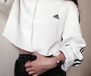 fashion, adidas, and white image