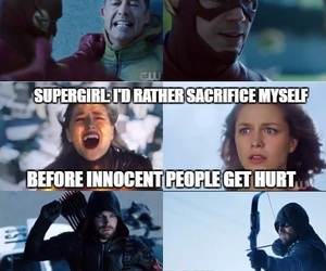 arrow, Supergirl, and crossover image