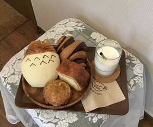 blue, soft aesthetic, and bread image