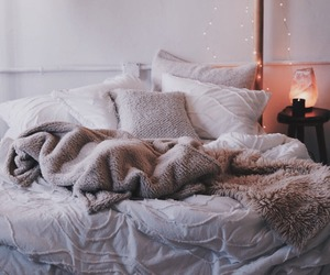 bedroom, blanket, and home image