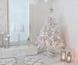 candle, christmas, and christmas tree image