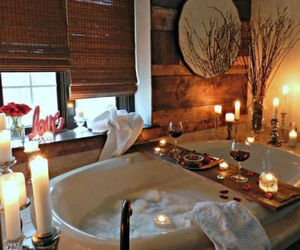 candle, bathroom, and relax image