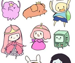 chibi, wallpaper, and adventure time image