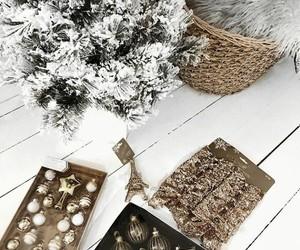 christmas, christmas tree, and gold image