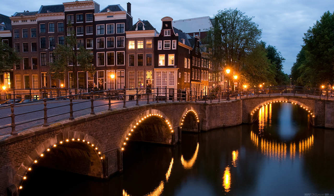 amsterdam, city, and lights image