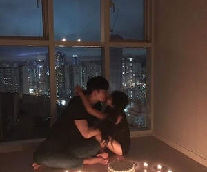 asian, couple, and love image