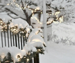 snow, winter, and lights image