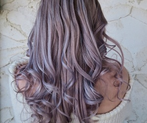 curls, girly, and gray image