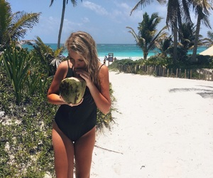 cancun, coconut, and crystal image