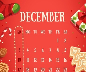 calendar, holiday, and red image