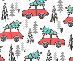 background, car, and christmas image