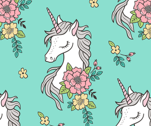 flowers, unicorn, and Dream image