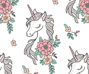 unicorn, flowers, and Dream image
