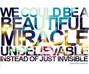 beautiful, invisible, and miracle image