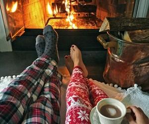 christmas, couple, and winter image