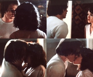couple, kiss, and movie image