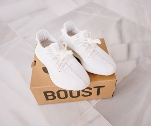 shoes, white, and yeezy image