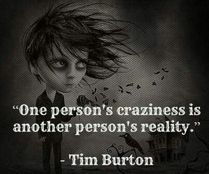 tim burton, reality, and crazy image