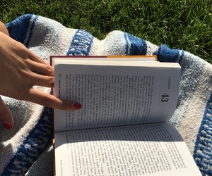 blanket, book, and books image