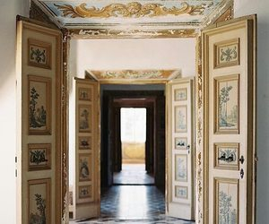 art, baroque, and doors image