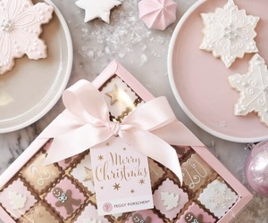christmas, chocolate, and pink image