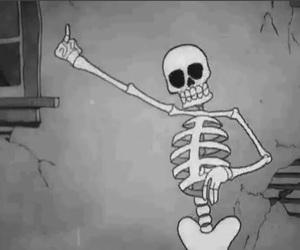 black&white, fuck, and squeleton image