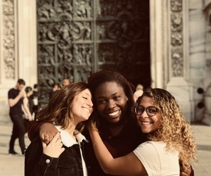 girls, italy, and friends image