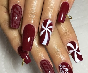 nails, christmasnails, and holidaynails image