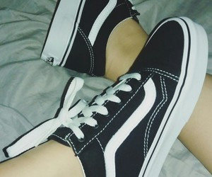 black, classic, and vans image