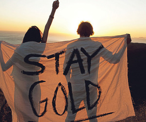 gold, stay gold, and quotes image